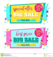 special offer sale paper tag or banner design stock image image
