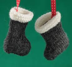 santa boots christmas tree decorations knitting pattern by jane