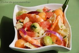 cuisine sucré salé salade sucrée salée de farfalles sauce crème au curry péché de