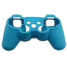 merak biru kustom warna merak biru silikon kasus untuk ps3 game controller
