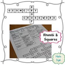 Cpctc Worksheet Answers Rhombi And Squares Geometry Proofs Crossword Puzzle By Math Dyal