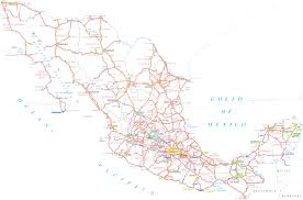 Detailed Map Of Mexico by Sonora State Road Mapfree Maps Of Central America For Alluring