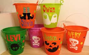 personalized halloween treat bags halloween bucket personalized halloween sand pail beach