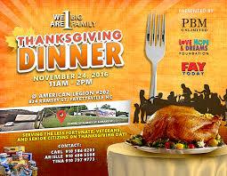 thanksgiving day dinner for veterans senior citizens less