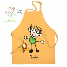 tablier cuisine enfant personnalisé tablier enfant personnalisé avec dessin d enfant pour qui