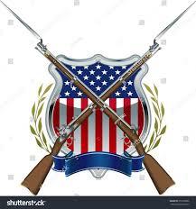 Civil War Union Flag Pictures American Civil War Union Badge Musket Stock Vector 251858896