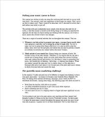 music business plan template free download cafe business plan
