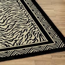 Zebra Runner Rug Zebra Print Hooked Area Rugs