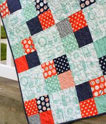 Riley Mini Crib by Project Design Team Wednesday Fast Four Patch Quilt Riley