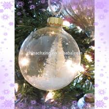 hanging christmas tree decorations clear glass balls ornament