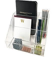 clear acrylic desk organizer amazon com premium quality clear plastic craft and desktop