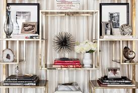 how to style a bookcase how to style a chic bookcase a la olivia chantecaille the decorista