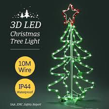 crazy christmas tree lights 3d christmas tree light 10m led fairy xmas decor figure red
