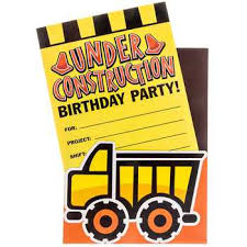 construction party supplies construction party invitations hobby lobby 882191