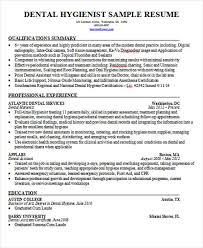 Dental Hygienist Sample Resume by 42 Curriculum Vitae Examples Free U0026 Premium Templates