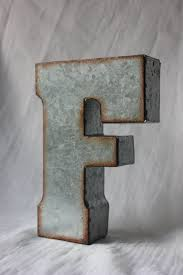 sale large metal letter zinc steel initial home room decor diy