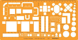 isomars 1 50 architectural drawing template stencil furniture