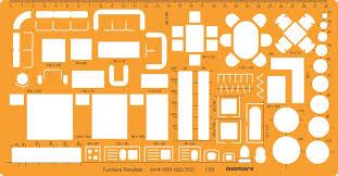 Floor Plan Furniture Symbols Isomars 1 50 Architectural Drawing Template Stencil Furniture