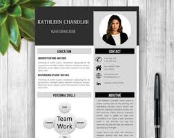 Resume Curriculum Vitae Example by Cv Template Word Etsy