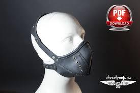 steampunk mask pattern diy pattern halloween mask diy