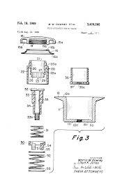 American Standard Bathtub Drain Parts Patent Us3428295 Push Actuated Drain Valve Google Patents