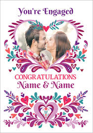 Congratulations On Engagement Card Folklore Engagement Card Congratulations Photo Upload Funky Pigeon
