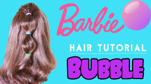 bubble cut hairstyle how to do bubble ponytail hairstyle barbie hair tutorial step by