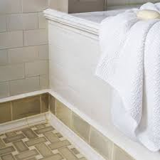 all about ceramic subway tile wraparound moldings and tubs