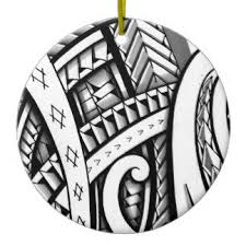 maori tattoo designs christmas tree decorations u0026 baubles zazzle