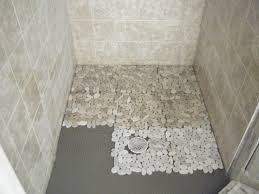 flooring excellent pebble shower floor pictures concept sliced