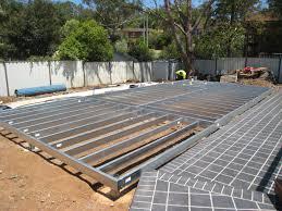 boxspan steel kit flooring system sub floor piers u0026 bracing