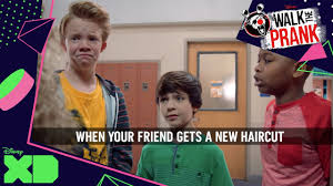 walk the prank video meme haircut official disney xd africa