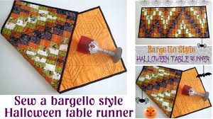 bargello style halloween table runner quilt youtube