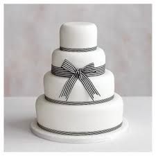 3 Tier Wedding Cake Classic Ribbon U0027 4 Tier White Wedding Cake Fruit Base U0026 Golden