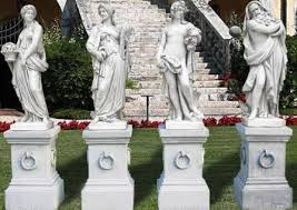 outdoor cast statues italian large marble godees garden