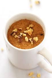 paleo pumpkin mug cake made with coconut flour leelalicious