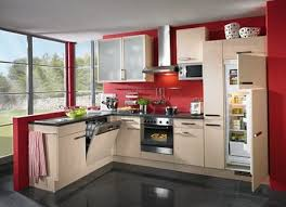 Red Kitchen White Cabinets The Kitchen In The Red Color Home Interior Design Kitchen And
