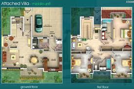 gallery villas floor plans dubai sports city attached u0026 detached