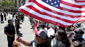 Huelga Flag As Thousands Marched Here U0027s How The Lapd Handled May Day