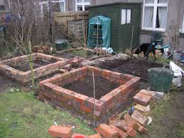 Garden Allotment Ideas Mal S Allotment Brick Raised Beds Update