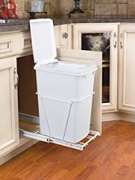 pull out trash can for 12 inch cabinet amazon com rev a shelf rv 814pb single 20 qt pull out white