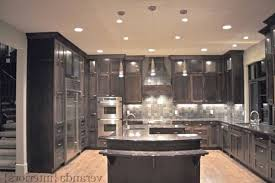 Kitchen Island Granite Countertop U Shaped Kitchen With Peninsula Wooden Seat Bars Siding Glass Door