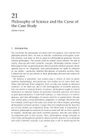 philosophy of science and the curse of the case study springer