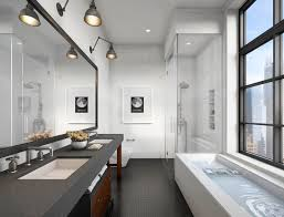 Dwell Bathroom Ideas Gentle Modern Bathroom Design With Striped Tiles And Flooring Also