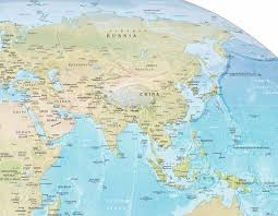 Eurasia Map Asia Physical Map
