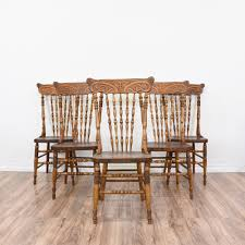 antique carved back dining chairs set of 4 victorian carved