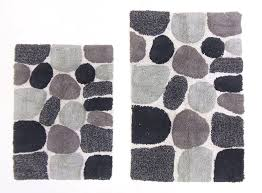 White And Gray Rugs Amazon Com Cotton Craft 2 Piece Bath Rug Set Pebbles Stones