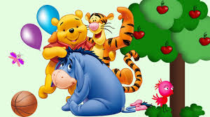 winnie the pooh tigger and piglet cartoon flying balloon wallpaper
