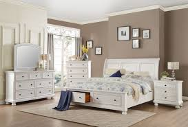 transitional style storage bed