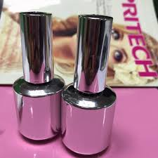 15ml metallic mirror effect metal silver nail art polish varnish